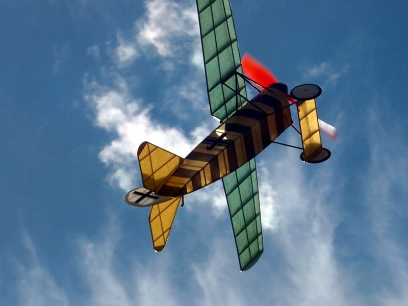 Rubber powered Fokker D VIII