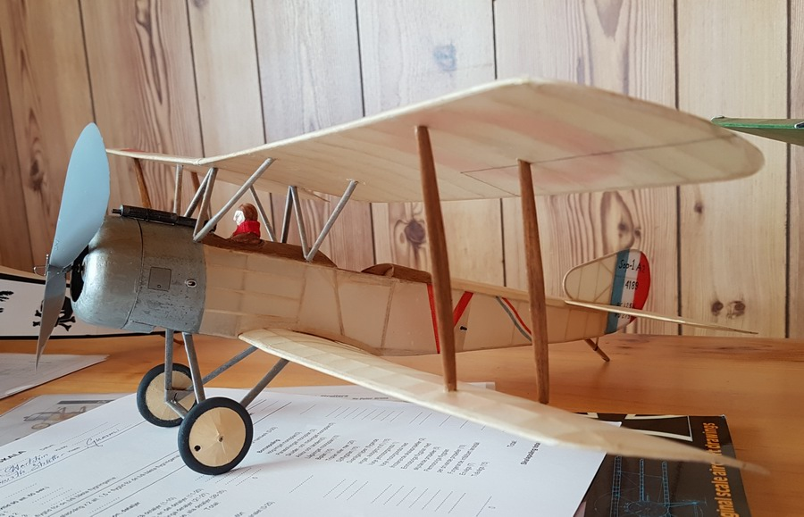 Rubber powered Sopwith Strutter by Andrea